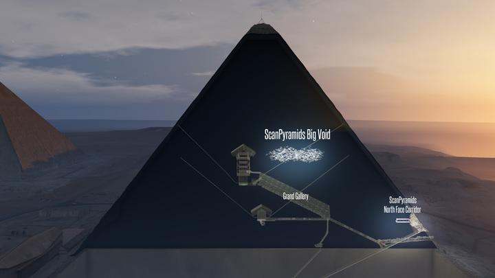 В пирамиде Хеопса обнаружена тайная комната