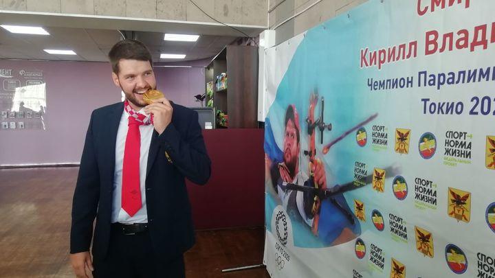 Забайкальцы встретили триумфатора Параолимпиады Токио-2020 Кирилла Смирнова