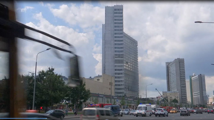 Площадь пожара в высотке на Новом Арбате увеличилась до 200 квадратов