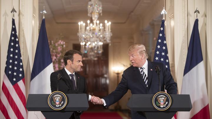Макрон пообещал поддержать все военные действия США в Сирии