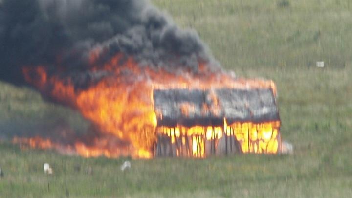 Пилорама сгорела вместе с дровами в Барановичском районе