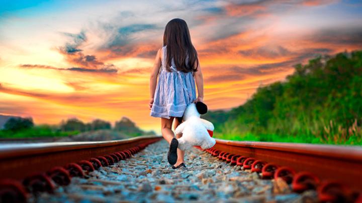 Двухлетняя девочка шла по железной дороге и плакала, а на неё мчался тепловоз