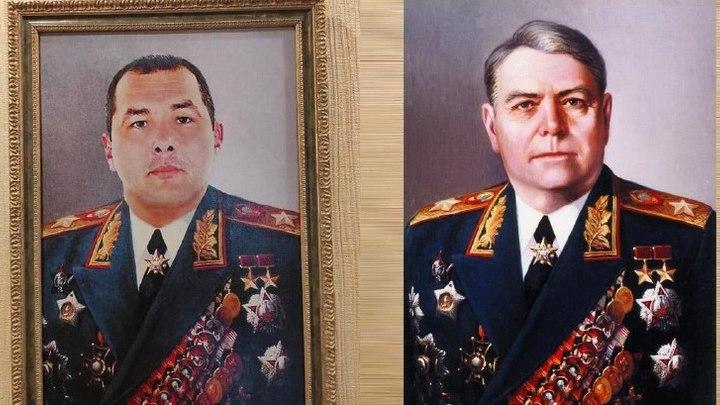 Во время обыска у сотрудника ГИБДД в Ростовской области нашли его портрет в форме маршала СССР