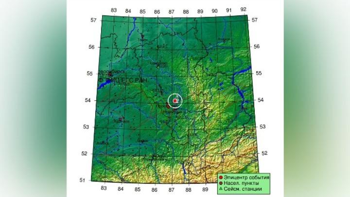 Новое землетрясение произошло в Кузбассе утро 21 сентября