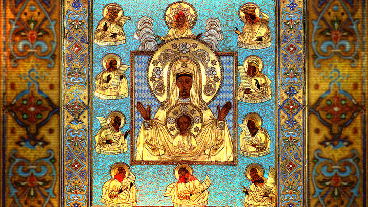Курская-Коренная икона Божией Матери Знамение. Православный календарь на 21 марта