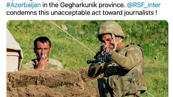 Репортеры без границ сообщили об угрозах испанским журналистам со стороны азербайджанских ВС