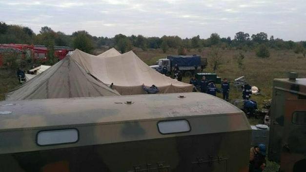 Жители Харьковской области сообщили о пожаре и взрывах на военном складе