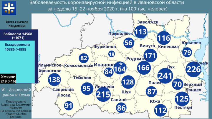 Коронавирус в Ивановской области: где выше риск заразиться