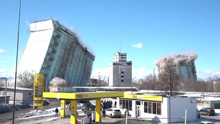 Элеватор на теплотрассе подающим конвейером