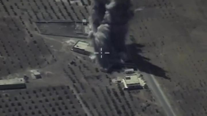 Опубликовано видео разгрома террористов, пытавшихся окружить российских военных
