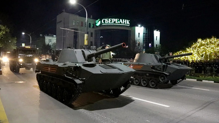 Репетиция Парада Победы 2021 в Новороссийске: В городе-герое прошла вторая ночная тренировка
