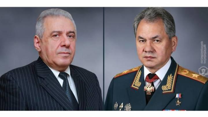 Места дислокации пограничников и военных России на границе Армении обсудили Шойгу и Арутюнян