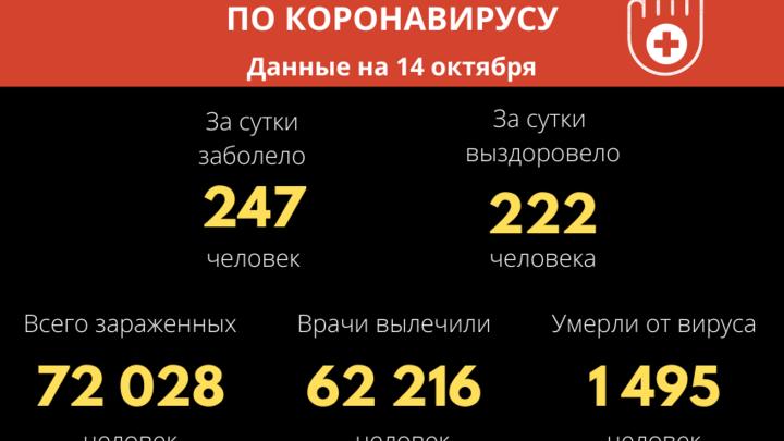 Число заболевших коронавирусом в Забайкалье превысило 72 тысячи человек