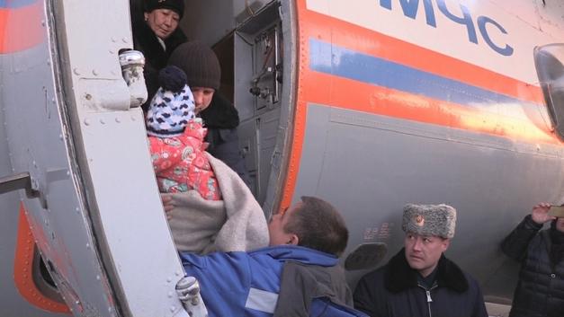 МЧС эвакуировали из Грозного тяжелобольного ребенка