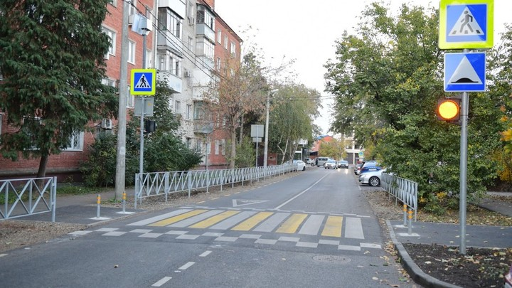 Участок улицы Песчаной в Краснодаре отремонтировали раньше срока