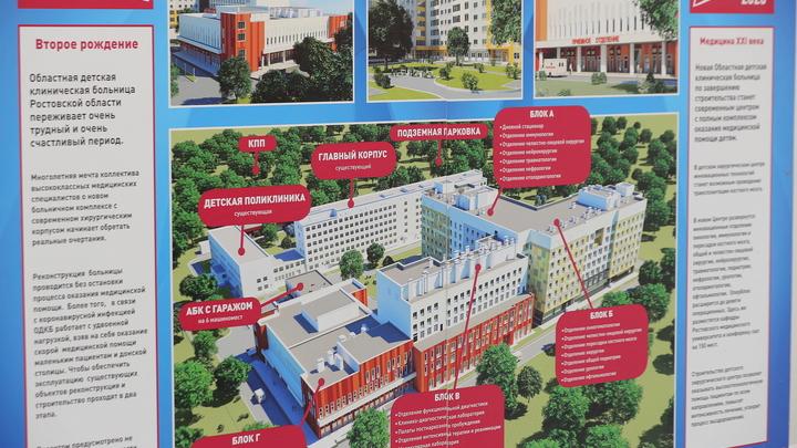 В Ростове выбрали подрядчика на строительство Детского хирургического центра за 7,25 млрд рублей