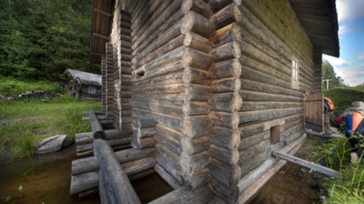 Остов столетней мельницы в селе Зюльзя смыло в реку Нерчу после очередного ливня