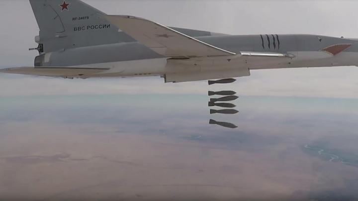 Бомбардировщики Ту-22М3 атаковали логово ИГИЛ в долине реки Евфрат