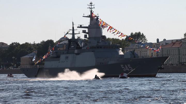 Гроза террористов фрегат Адмирал Макаров встал на защиту Родины