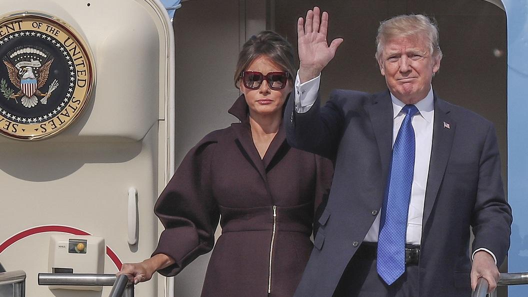 Трамп прилетел вЮжную Корею