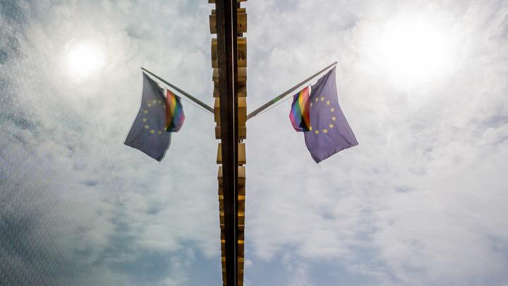 Протест в Тбилиси достиг апогея. Флаг ЕС сожгли на глазах у толпы