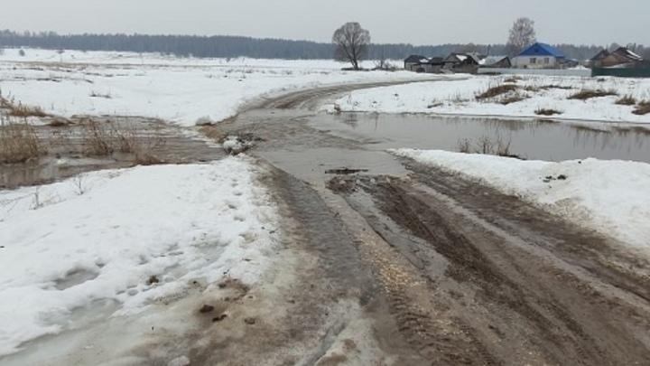 В Нижегородской области затопило первый автомобильный мост