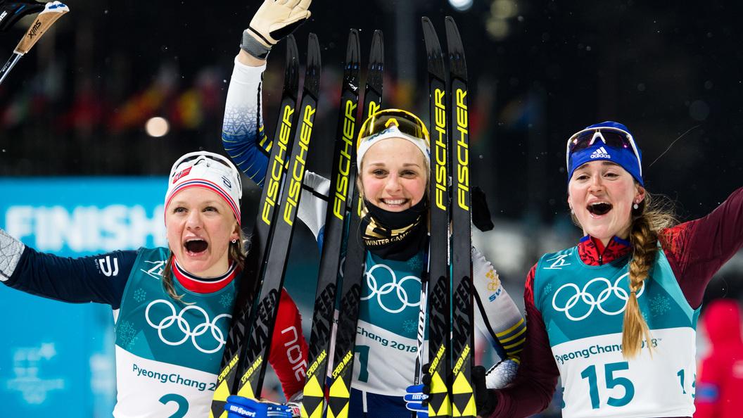 Русская лыжница Юлия Белорукова выиграла бронзу ОИ-2018