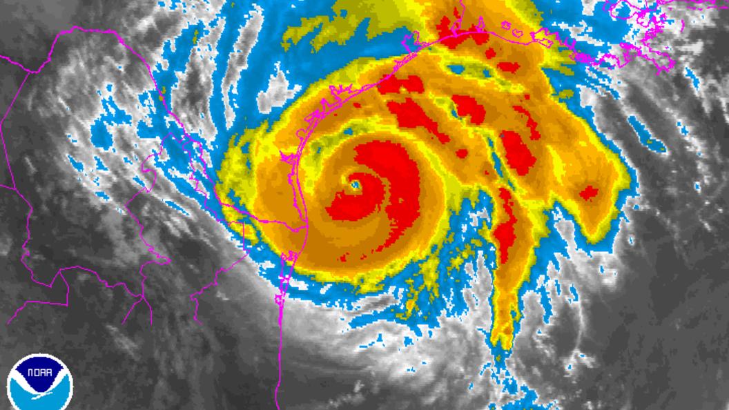 В США ураган Харви достиг четвёртой категории мощности