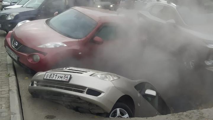 В Новосибирске на две недели сузят улицу Семьи Шамшиных из-за провала асфальта