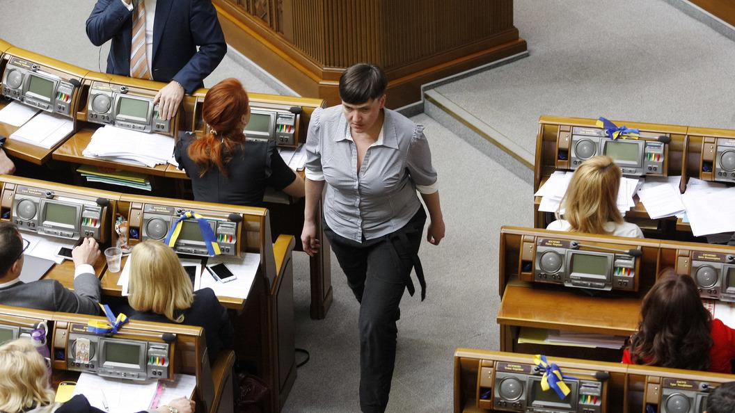 Савченко назвала адресата неприличного жеста в Раде