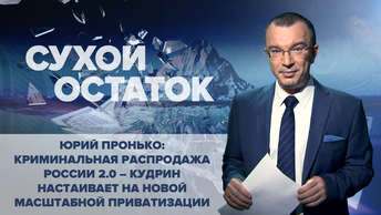 Юрий Пронько: Криминальная распродажа России 2.0 – Кудрин настаивает на новой масштабной приватизации