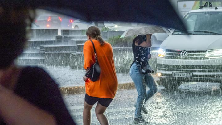 Водителей и пешеходов Подмосковья призвали быть аккуратнее из-за ливня и порывистого ветра