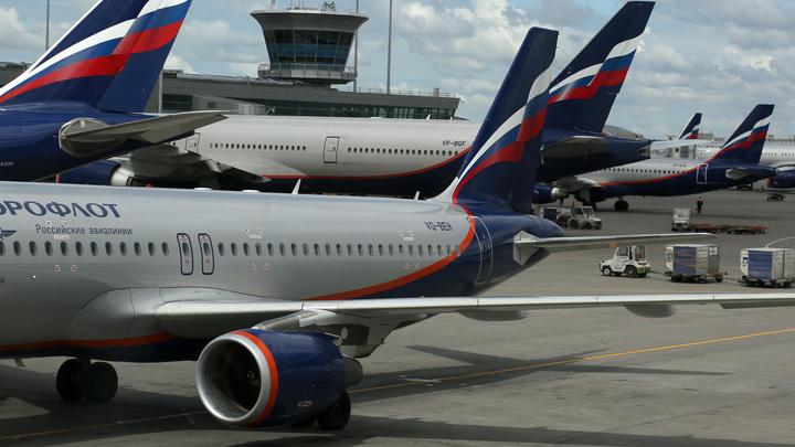 Работа аэропортов Москвы встала из-за снегопада