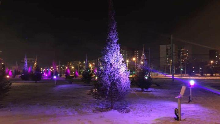 В Челябинске вместо пустыря оборудовали сквер в Ленинском районе