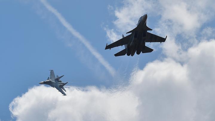 Российский Су-27 отогнал от границы целую компанию натовских самолётов