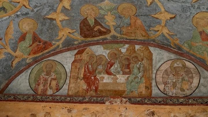 Фреска на стене Кирилло-Белозерского монастыря