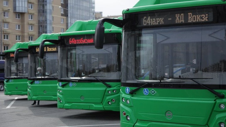 Челябинск получил 15 низкопольных автобусов на газомоторном топливе