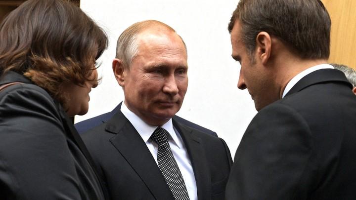 Макрон вслед за Меркель атаковал Путина вопросами о Белоруссии