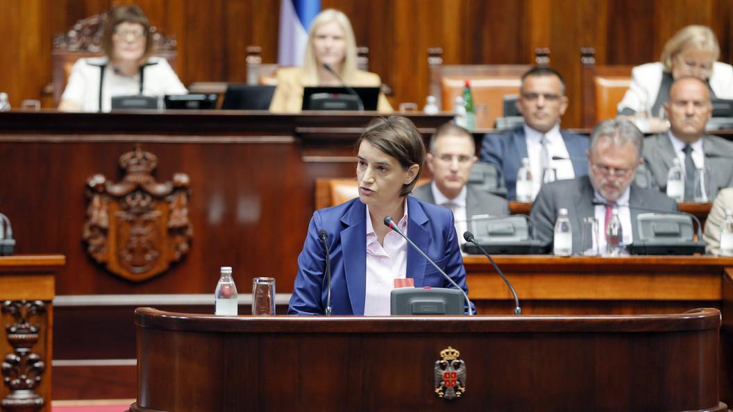 Премьер Сербии сообщила , что новое руководство  не будет  вводить санкции против Российской Федерации