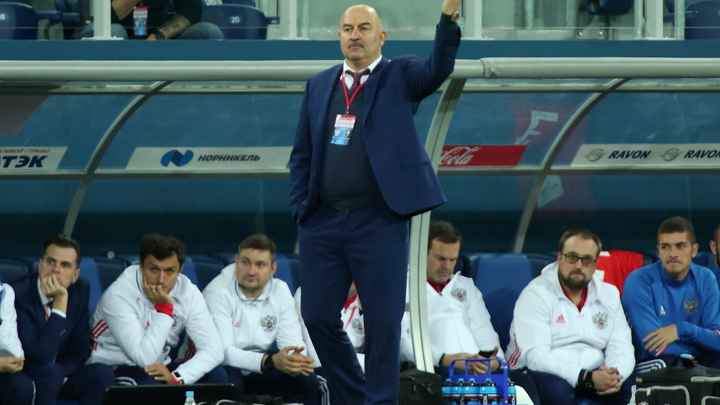 Русские футболисты провели первую тренировку перед контрольными матчами
