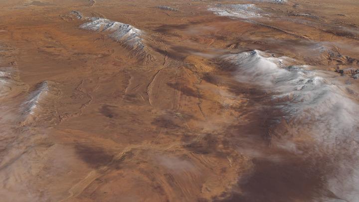 Ученые объяснили, как песок из Сахары сделал снег в Сочи желтым