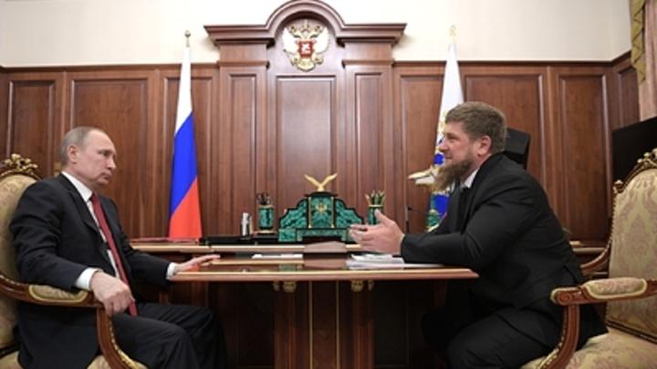 Кадыров: Владимир Путин соперникам нашим забивает в девятку