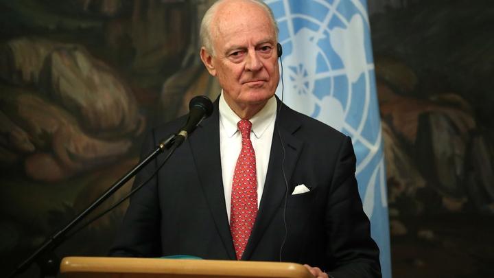 Стаффан де Мистура признал, что химатака в Думе может быть постановкой
