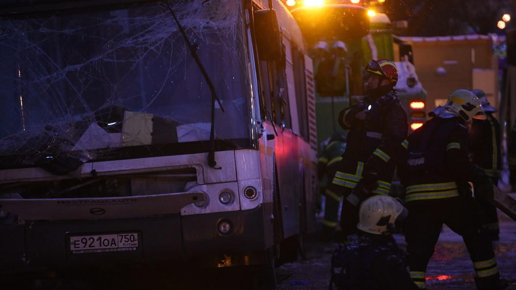 Появилось видео сословами водителя автобуса перед наездом напешеходов в столицеРФ
