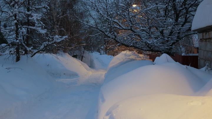 Инвалиды с лопатами расчищали дорогу от снега. У двух ведомств это вызвало недоумение