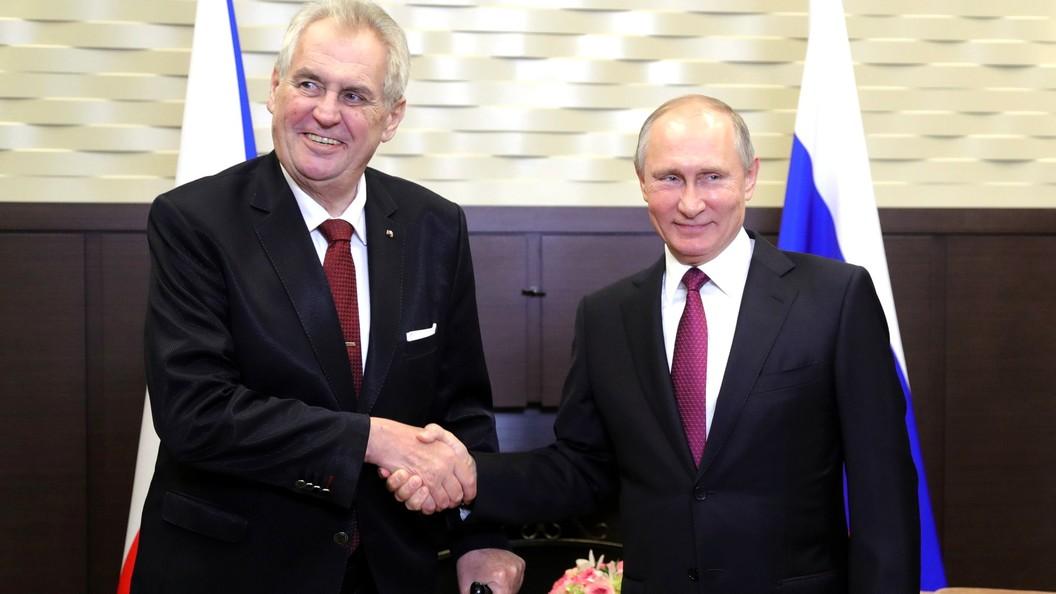 Президент Чехии Земан призвал EC отказаться отсанкций вотношении РФ