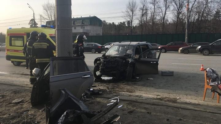 В центре Челябинска на Труда в ДТП погиб водитель кроссовера