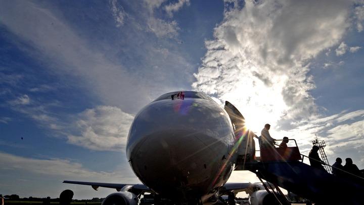 В Иркутске самолетSSJ 100нарекли именем преподобного Сергия Радонежского