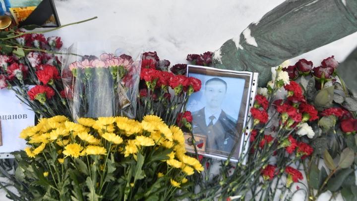 Тело Героя России майора Филипова предано земле на Аллее почетной славы Воронежа