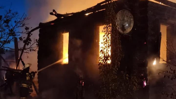 В Меленковском районе в огне погиб мужчина